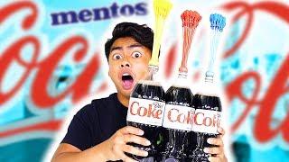 DIET COKE MENTOS BALLOON EXPERIMENT! (Explosion)