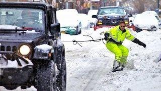 Snowboarding New York City