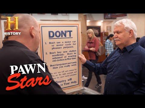 Pawn Stars: Original British WWI Poster (Season 14)   History