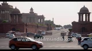 North Block and South Block as seen from Vijay Chowk, Delhi