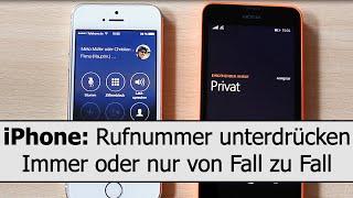 iPhone: Rufnummer unterdrücken - generell immer oder nur für einen Anruf