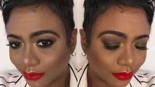 Makeup Fun: Soft Smokey Eye | Fenty Beauty Stunna Lip Paint