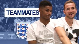 Who does Joe Hart keep getting in a headlock? | Harry Kane & Marcus Rashford | England Teammates