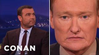 Liev Schreiber Has Resting Badass Face  - CONAN on TBS