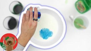 هذه التجربة سوف تذهلك| التفاعل الناتج عن  خلط اللبن و ألوان الطعام مع سائل غسيل الصحون