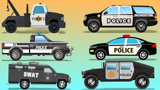 Police Vehicles | Kids police Cars | police utility vehicles