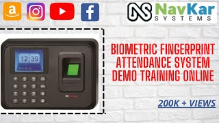 Biometric Fingerprint Attendance System Demo Training Online in Delhi Mumbai Bangalore Chennai India