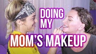 DOING MY MOM'S MAKEUP | Baby Ariel