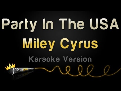 watch Miley Cyrus - Party In The USA (Karaoke Version)