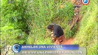 Familia vive en la extrema pobreza a orillas del río en Asunción 23/05/15