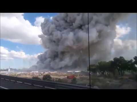Detik-detik ledakan DAHSYAT pabrik Kembang api di Meksiko