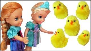 CHICKS ! Elsa & Anna toddlers - Chicken