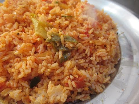 Tomato Rice or Thakkali Sadam (in tamil)
