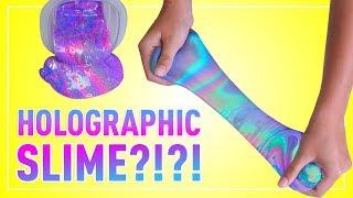 DIY HOLOGRAPHIC SLIME | How to Make 4 Rainbow Colored Holo Slimes!