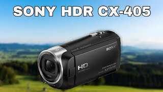 SONY HDR-CX405 CAMCORDER (TEST)