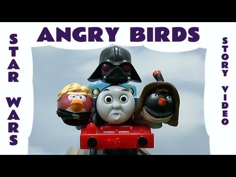 Angry Birds Star Wars Funny Story Thomas The Tank Accidents Darth Vader Battle Space Toy Parody