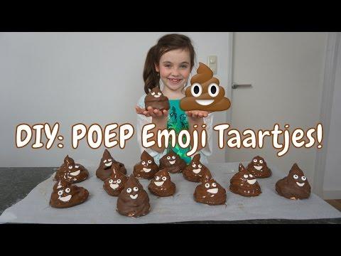 DIY - Zelf Poep Emoji Taartjes Maken - Bibi (Nederlands)