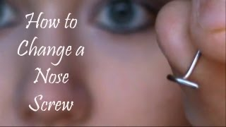 How to Change a Nose Screw