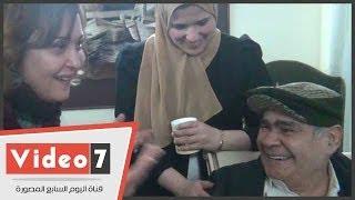 بالفيديو.. شاهد نهال عنبر تغازل «سيد زيان» وأحلى ضحكة له