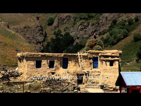 A traditional mud house in Dras village: Kashmir