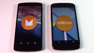 Android M (6.0), novedades y comparación con Lollipop