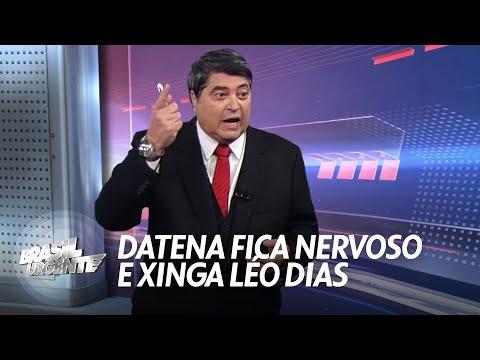 Datena perde o controle ao vivo e xinga jornalista (06/04/2015)