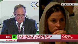 Russian athletes react to IOC decision on Russia's participation in 2018 Winter Olympics