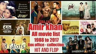 Amir khan all movie list 1988 to 2017, box office collection, hit and flop movies