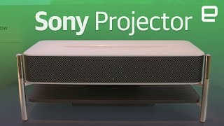 Sony 4k Ultra Short Throw Projector at CES 2018