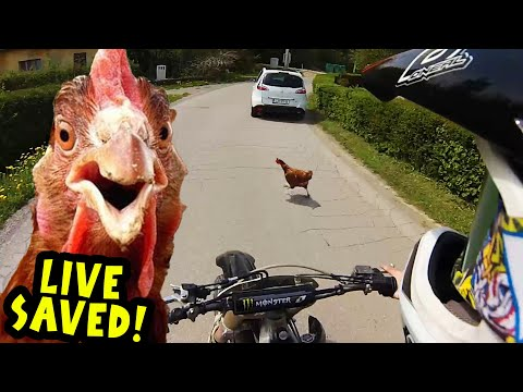 Angry Man Attack Dirt Biker with Tractor Stupid People 2017