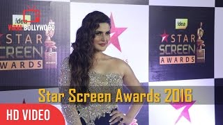Zareen Khan At Star Screen Awards 2016 | Viralbollywood