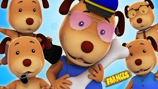 Five Little Dogs Song Nursery Rhymes For Children 3D Video For Kids And Babies