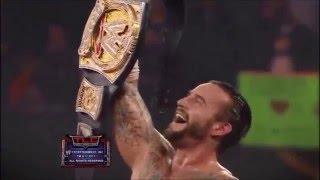 WWE CM Punk(c) vs The Miz vs Alberto Del Rio - TLC Match - TLC 2011 Highlights