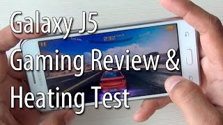Samsung Galaxy J5 Heating Test With Gaming And Benchmarks Review