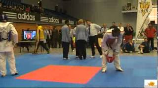 Lutalo Muhammad v Aaron Cook at the 2012 German Taekwondo Open   YouTube