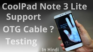 Coolpad note 3 lite support OTG cable testing