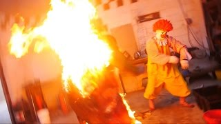 Ronald McDonald BURNS THE BURGER KING!