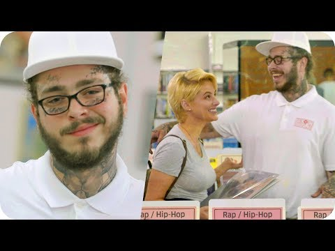 Xxx Mp4 Post Malone Pranks People With Undercover Record Store Surprise Omaze 3gp Sex