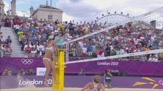 Women's Beach Volleyball Preliminary Round - CZE v AUT | London 2012 Olympics