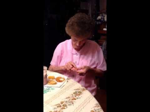 Gangsta granny filing her fucking teeth