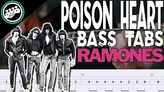 The Ramones - Poison Heart | Bass Cover With Tabs in the Video