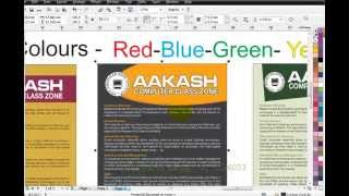 Learn Coreldraw in hindi - Day-5 Training- Colour - part-1