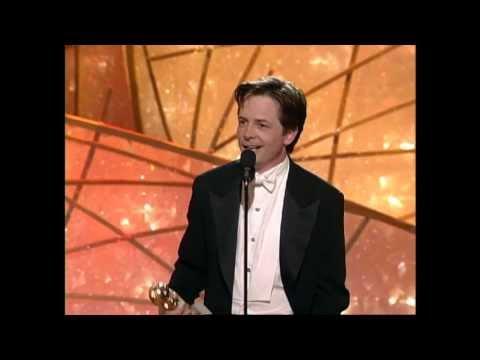 Michael J. Fox Wins Best Actor TV Series Musical or Comedy - Golden Globes 1998