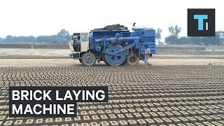 This machine can produce almost 300 bricks in a minute