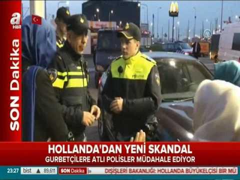 Hollanda polisinden Türk vatandaşlarımıza atlı, köpekli müdahale.