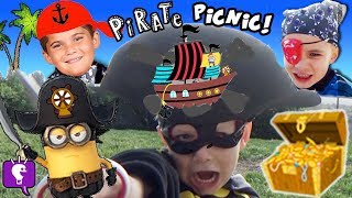 TOYS Get CUT Up! Pirate Picnic Party Surprise + Hulk and Spiderman Heroes HobbyKidsTV