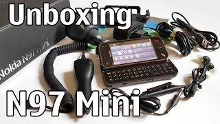 Nokia N97 Mini Unboxing 4K with all original accessories Nseries RM-555 review