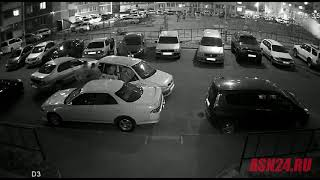 В Благовещенске окно в такси выбили головой водителя