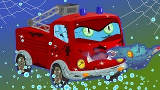 fire truck | scary car wash for children