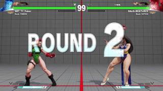 Street Fighter 5 ranked fight Chun-Li VS Camy epic losing & wining 2016/04/03